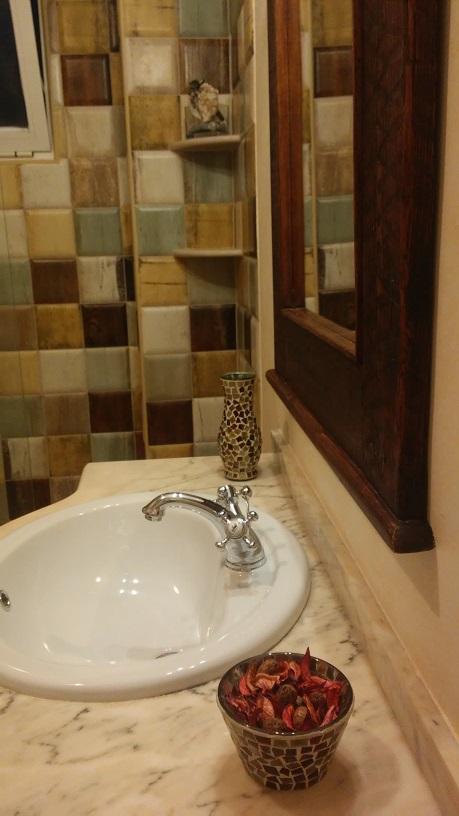 Cuarto de baño rústico
