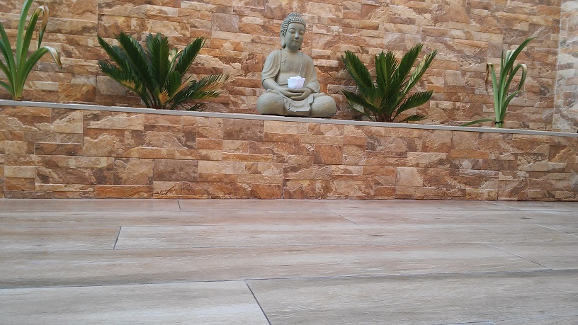 Detalle de  Terraza con jardín